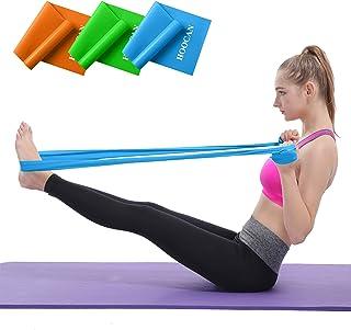 ست های باند مقاومت Hoocan ، نوارهای تمرینی طولانی برای بازوها ، شانه ها ، پاها و باسن ، نوارهای کششی تمرین برای فیزیوتراپی ، سالن بدن سازی ، یوگا