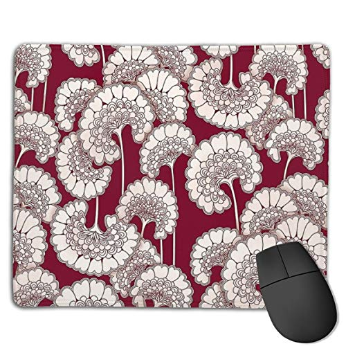 Florence Broadhurst Inspired Design - Red Mouse Pad ,HD Bright Colors Gaming Mouse Pad Custom Design Mat