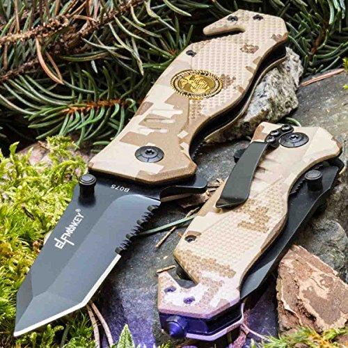 ELFMONKEY B075-4 • KLAPPMESSER • EINHANDMESSER TAKTISCHES Messer • Gesamtlänge: 210mm • PTM-de.