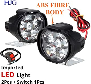 HJG 6 LED SHILAN Waterproof Fog Light Universal for Bikes and Cars with ON/Off Handlebar Switch