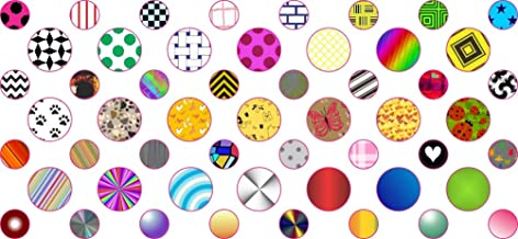 StickerTalk Decorated Camera Dots Webcam Covers, 1 Sheet of 32 Stickers at .25 inches Diameter, 21 Stickers at .375 inches Diameter.