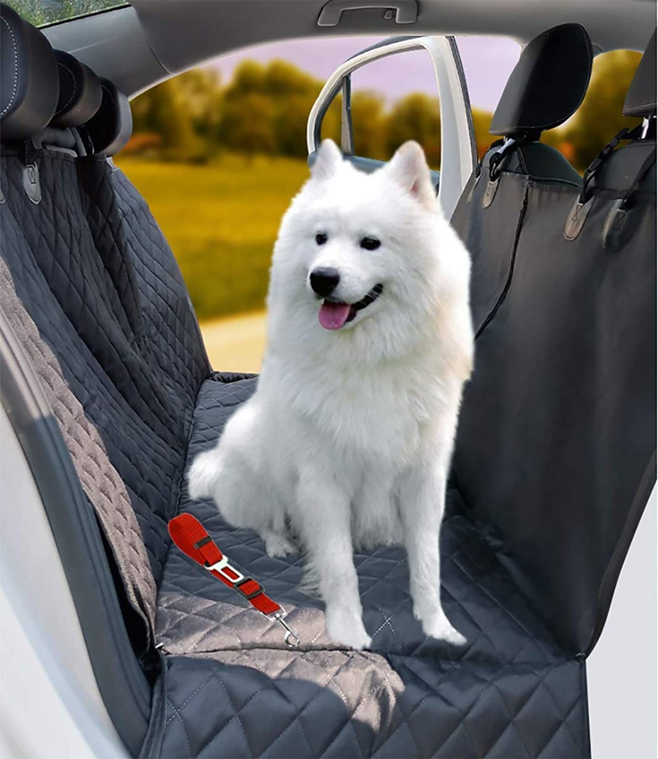 GDZ Dog Car Seat Cover with Visible Window, Car Boot Predector with Side Predection, Waterproof NonSlip Easy to Clean for Car Truck SUV