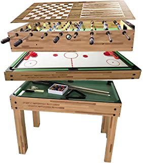 haxTON Compact Combination Game Tables Mini Game Tables 1 Set of Popular Game Tables 4 in 1 Multi-Use Game Table Include Pool Table Foosball Table Air Hockey Table for Children Toy Game (4 in 1 a)