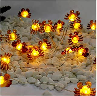 LED String Lights Crab Sea Beach Theme 10ft 30 LEDs Battery Operated Copper Wire Night Light Waterproof Indoor Bedroom Children Girls Room Wall Décor Party Decorations