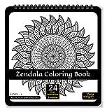 Zen Sangam Zendala Meditation Art Coloring Book for Adults : (Zentangle + Mandala) Expert Designs – Level 1