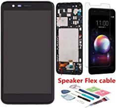XR MARKET Compatible LG K10 2018/LG K30 Screen Replacement, LCD Display Touch Screen Digitizer Assembly Part for X410 LMX410 LMT410TK, with Glue, Tools, Screen Protector(Black W/Frame)
