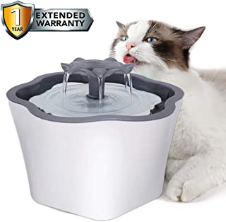 Cat Water Fountain 67oz Intelligent Power Off Automatic Pet Drinking Water Dispenser for Cats Dogs Small Animals, One Filter Includes