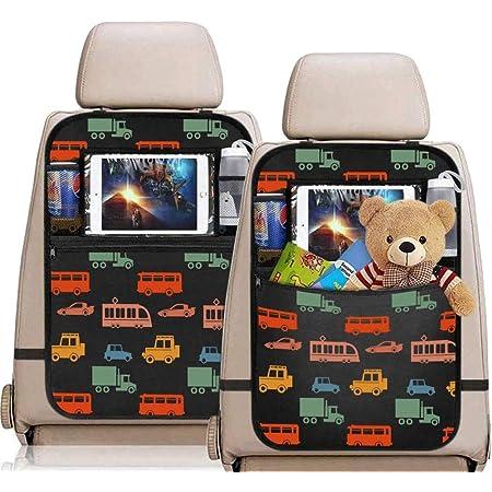 Carinacoco Rückenlehnenschutz Auto 2 Stück Kinder Rückenlehnen Trittschutz Rücksitzschoner Autositz Rückenschutz Rückenlehnen Organizer Für Tablet Baby
