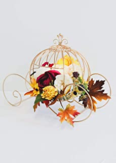 Afloral Gold Cinderella Wire Pumpkin Carriage - 18.5