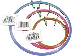 Frank A. Edmunds Set of 3 Assortment, 3-inch, 5.5-inch and 7-inch Spring Tension Embroidery Hoops,