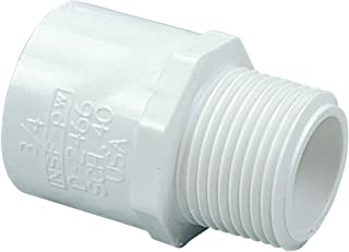 NIBCO 436 Series PVC Pipe Fitting, Adapter, Schedule 40, 1