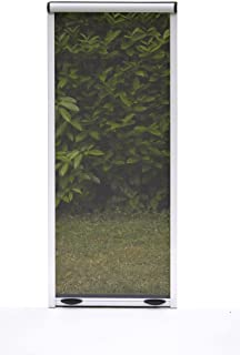 Verdelook - Mosquitera Enrollable con Embrague Vertical para Ventana, 80 x 170 cm, Color Marfil
