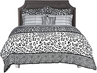 Beco Home Bedding Collection: 8 Piece Bed-in-a-Bag Comforter Set, Chelsea (Leopard Print), King