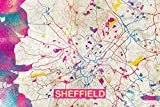// TPCK // Kunstvolle moderne Karte von Sheffield (England,