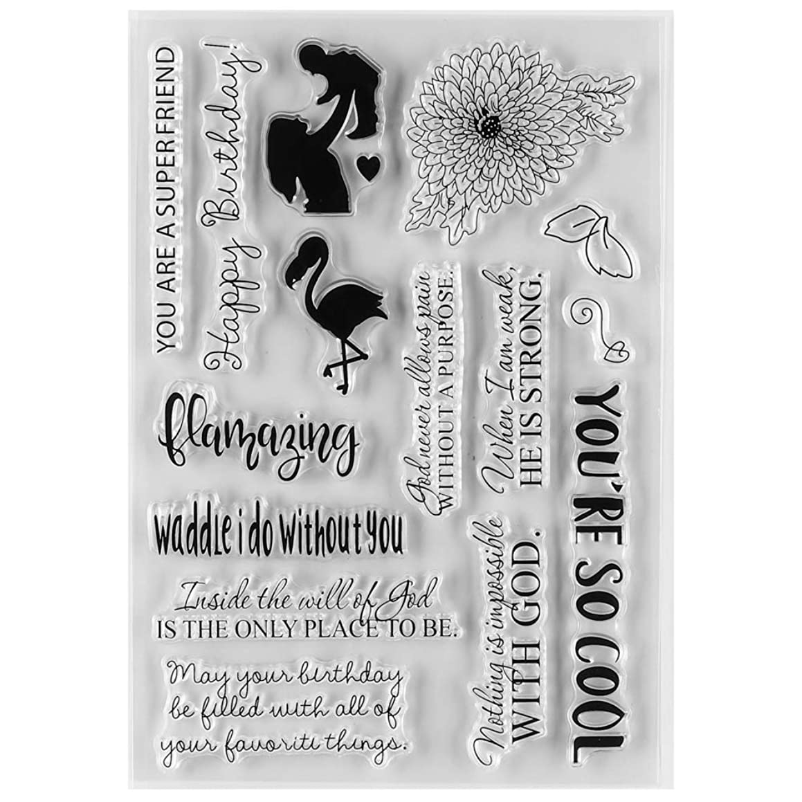 MaGuo Happy Birthday Clear Rubber Stamps Baby for DIY Scrapbooking Paper Craft or Card Making Decoration