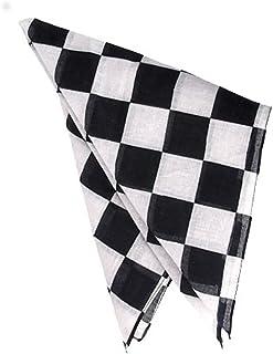 "Checkered 19"" Race Racing Flag NASCAR Costume Bandana"