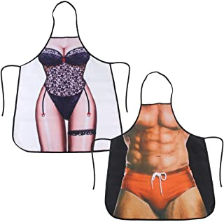 Hommes Funny MACHO Muscle Homme Tablier De Cuisine Barbecue Barbecue Gag cadeaux MADE IN ITALY