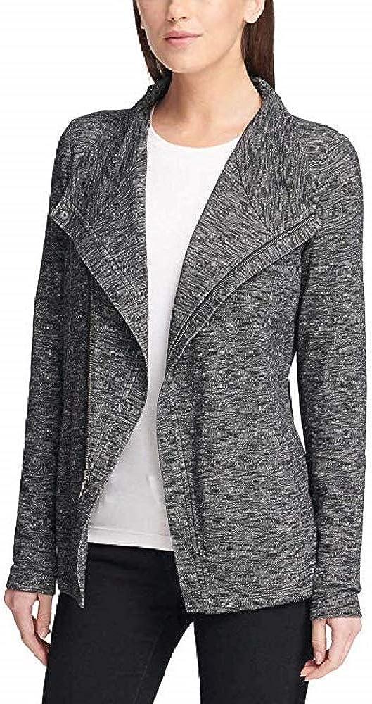 GH Bass Ladies' Knit Zip Cardigan (Black Combo,XL)