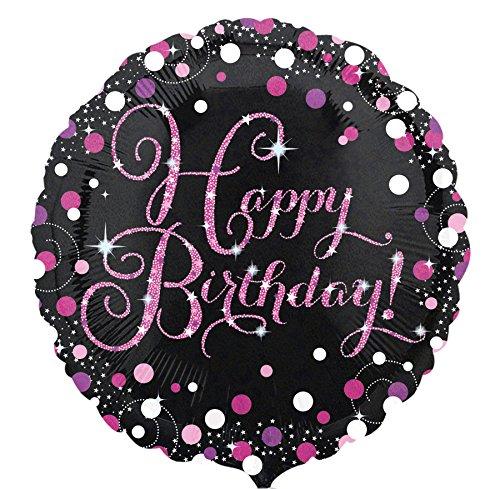 amscan 3378201 Happy Birthday Celebration Folienballon, Mehrfarbig
