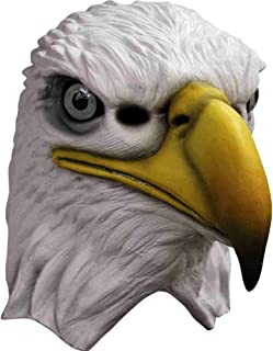 Deluxe Eagle Full Overhead Mask, White / Yellow