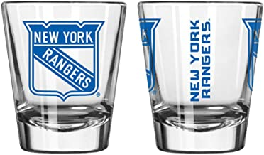 Boelter Brands Official Fan Shop Authentic NHL Logo 2 oz Shot Glasses. Show Team Pride at Home or Your Bar. Game time Glasses for a Goodnight