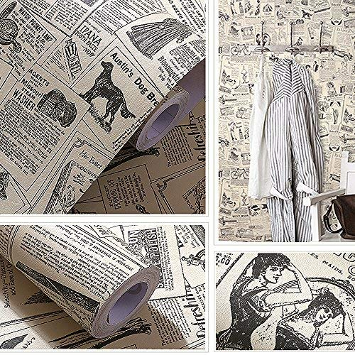 Yizunnu Papel pintado de vinilo vintage de 60 x 300 cm, autoadhesivo, papel de contacto, cocina, funiture bar, decoración de la pared del hogar