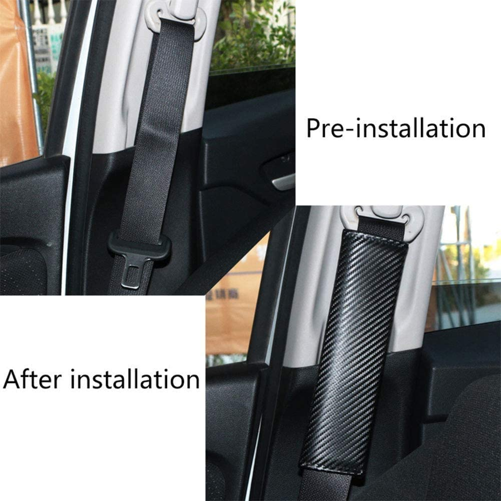 Shoulder Protector Covers with Emblem Comfort Soft Auto Styling Accessories 2 pcs Car Seat Belt Pads for MAZDA MX-5 MX5