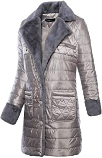 YD-zx Womens Winter Jackets Parka Lapel Warm Loose Fashion Coats, Thick Winter Warm Cotton Jacket