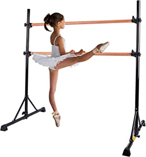 ZELUS Portable Ballet Barre Bar for Home Kids Ballet Bar 5ft Adjustable Freestanding Double Stretching Dance Bar, Barre Ex...