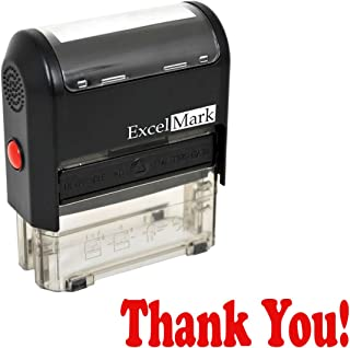 Thank You! Self Inking Rubber Stamp - Red Ink