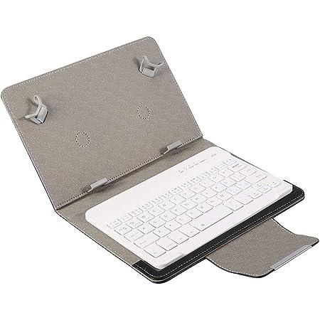 Teclado Bluetooth con Estuche para Tableta de 7 , Laptop Funda de Teclado PU Universal Teclado inalámbrico Bluetooth 2 en 1 para Tableta Smartphone.