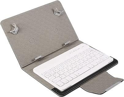 Tonysa Plug amp Play 7-Zoll-Tablet-Laptop Universal Premium PU-Schutzh lle tragbares Bluetooth Umweltfreundlicher Kunststoff Staubdicht wasserdichte Tastatur mit St nder f r Android IOS Win Schätzpreis : 13,01 €