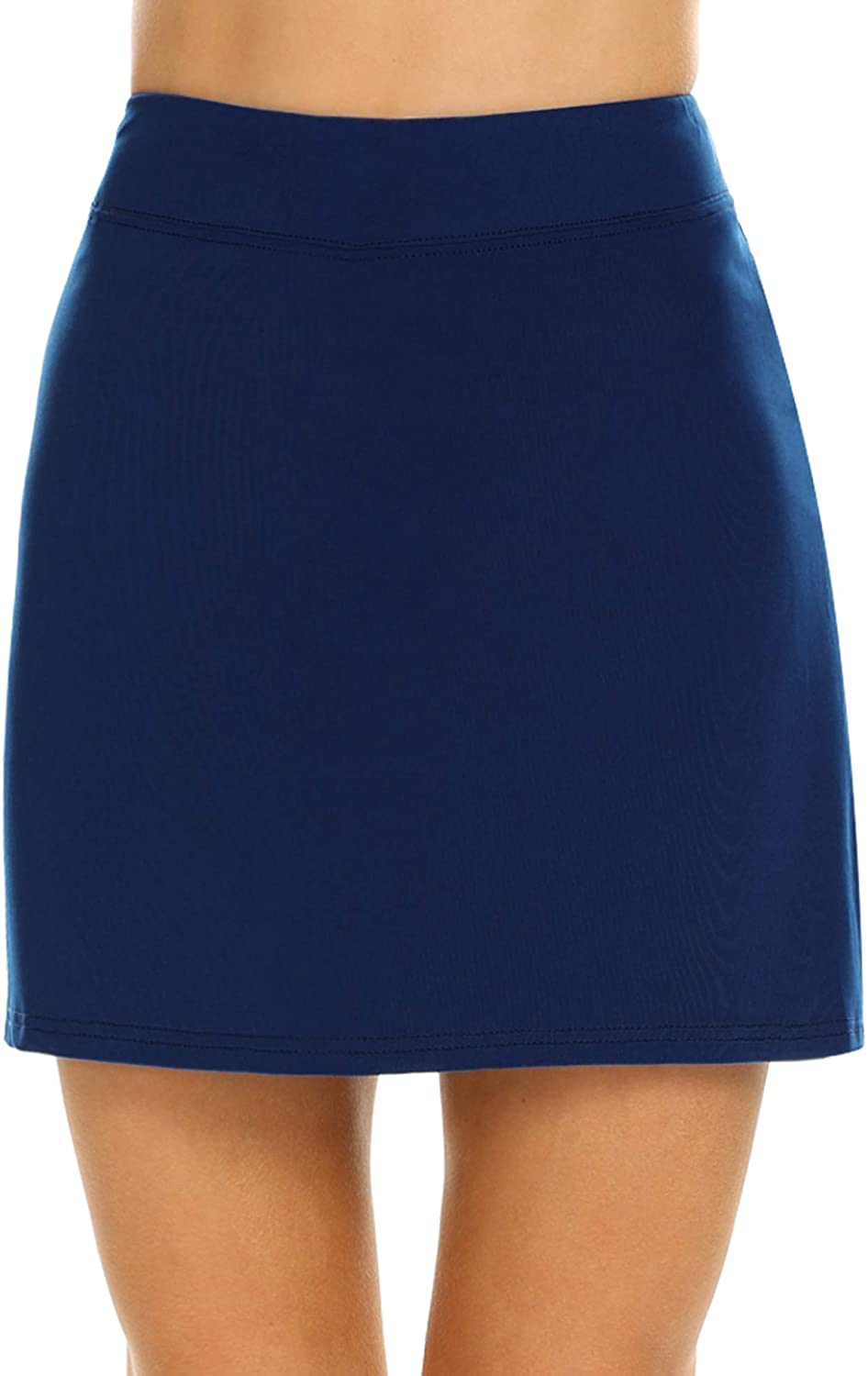 Ekouaer Women's Skorts Pleated Cute Col with Ranking security TOP15 Skirts Solid Pocket