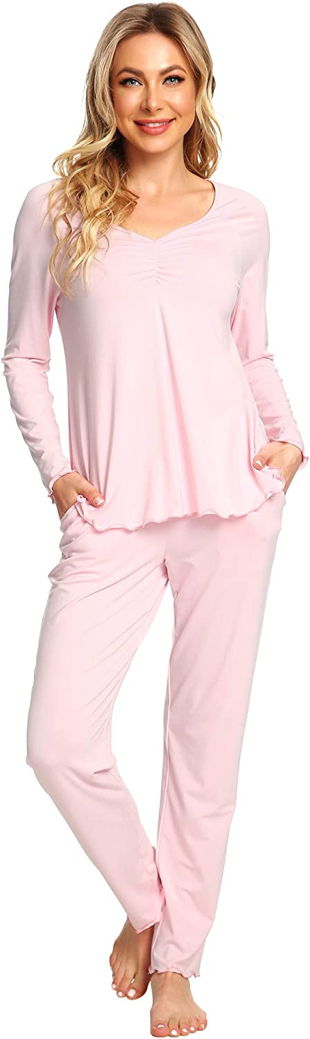 WiWi Womens OFFicial shop Bamboo Comfy Sleepwear Pajamas Selling Pjs Stretchy Shor Set