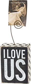 Primitives by Kathy Polka Dot Trimmed Photo Block, 3 x 4-Inches