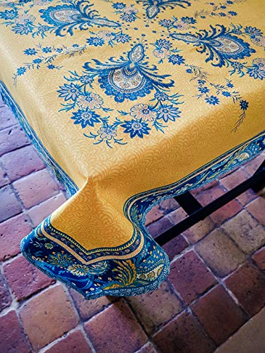 VALDROME Nappe PLACEE HAVELI Jaune 160X160