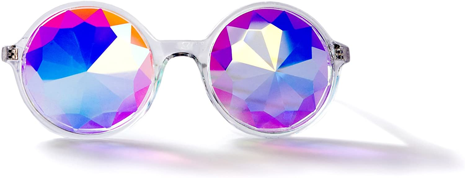 Rainbow Prism, Rave Cats Kaleidoscope Glasses  with Carbon Fiber Casing For Adults
