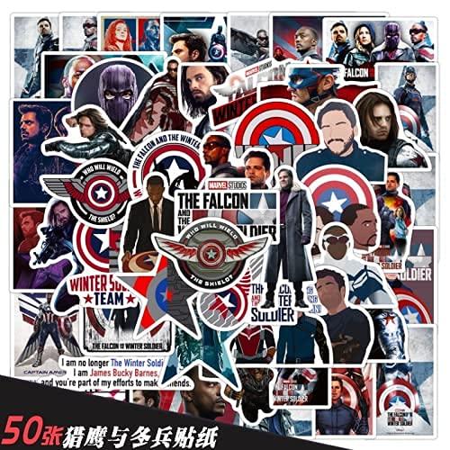YACHAO TV Series Falcon and The Winter Soldier Graffiti Stickers Decoración Funda para teléfono móvil Motocicleta Maleta Pegatinas Impermeables 50 Hojas