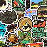 Camping Graffiti Stickers Outdoor Travel Sticker For DIY Luggage Laptop Skateboard Car Motorcycle Bicycle50Pcs/Set