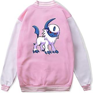 VJJ AIDEAR Absol Pokemon Baseball Uniform Jacket Sport Coat Kids Long Sleeve Hoodie Hooded Sweatshirt Black