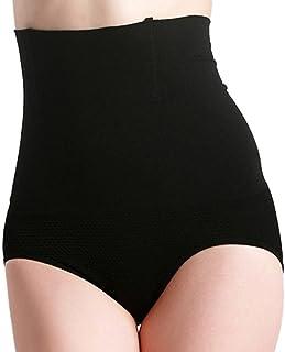 Nero Feoya Taglia 40-46 Mutandine Guaina Snellente Corpo Modellante Contenitivo con Ventre Piatto a Vita Alta Shapewear per Donna Pratico da Andare in Bagno