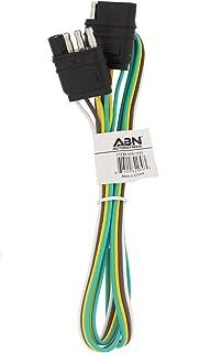 ABN Trailer Wire Extension, 4ft, 4-Way 4-Pin Plug Flat 20 Gauge – Hitch Light Trailer Wiring Harness Extender