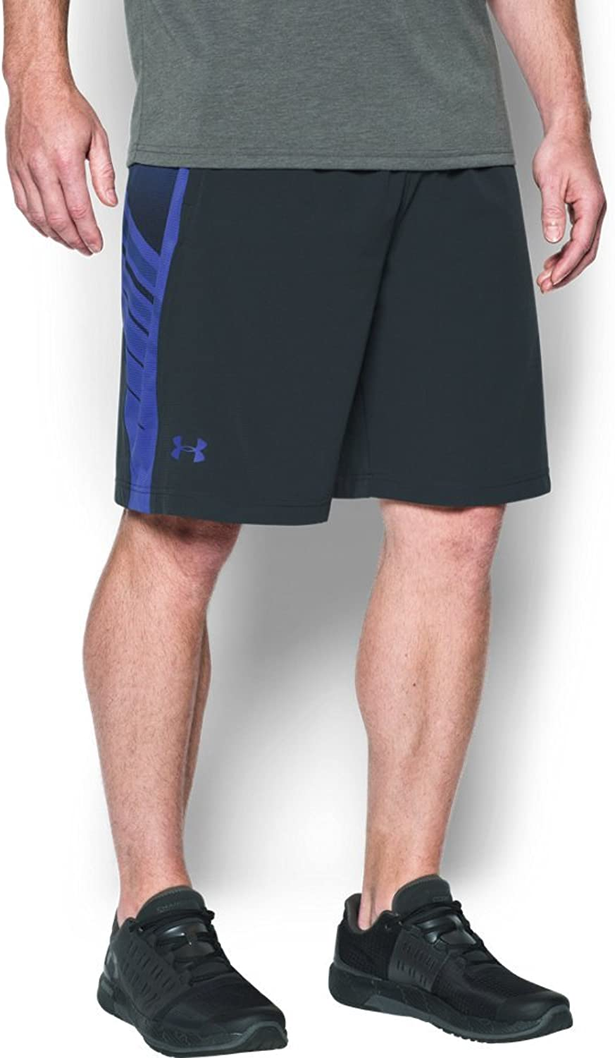 Under Armour Men's Supervent Woven Short, Anthracite/紫の, LG x One Size