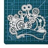 xmiral fustelle per scrapbooking per carta cutting dies metallo fustella stencil #19032501t, accessori per big shot e altre macchina(a)