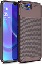 for Oppo RX17 Neo /K1/R15X Case Carbon Fiber Silicone Slim Fit Thin +Tempered Glass Screen Protector Shockproof ZSCHAO Com...