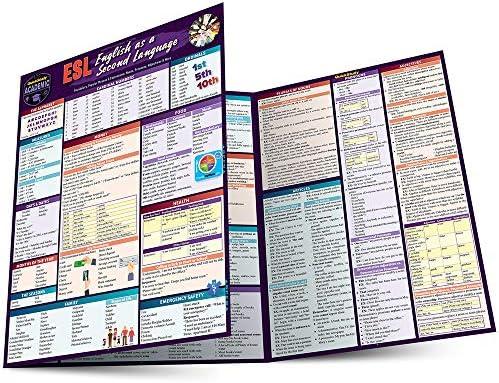 ESL English as a Second Language a QuickStudy Laminated Reference Guide A Quickstudy Reference product image
