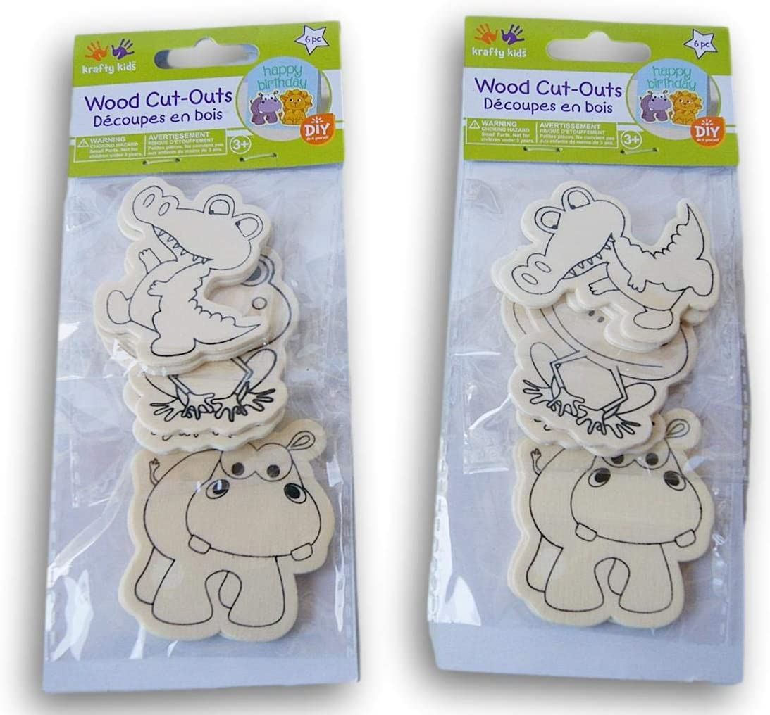 Water Critters Alligator Discount mail order Washington Mall Frog Hippo Shapes Unfin Cutout Wood
