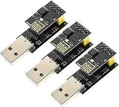 Sunhokey ESP8266 ESP-01 Serial WiFi Wireless Transceiver Module with USB to ESP8266 Adapter for Arduino UNO R3 Mega2560 Nano Raspberry Pi (3PCS ESP-01 + 3PCS USB)