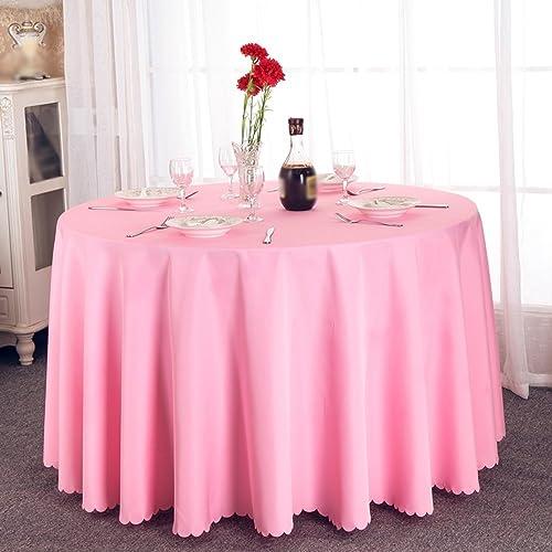 Tablecloth Thick Feste Farbe Runde Tischdecke Europäischenpastoralen Stoff Tischdecke Hotel Restaurant Größe Runde Tischdecke (Farbe   A, Größe   300cm)