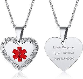 custom medical id necklace